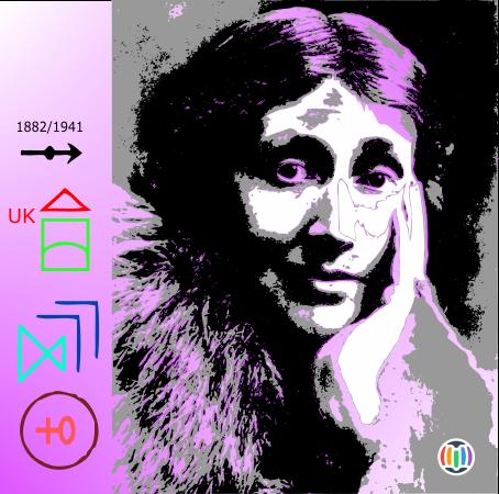 Adeline Virginia Woolf, née Stephen (1882 – 1941) – Auteure anglaise, considérée comme l'une des plus important/es auteur/es modernistes du XXe siècle, dont les romans ont eu une influence majeure sur le genre en raison de leur approche non linéaire de la narration – Cofondatrice du groupe de Bloomsbury.